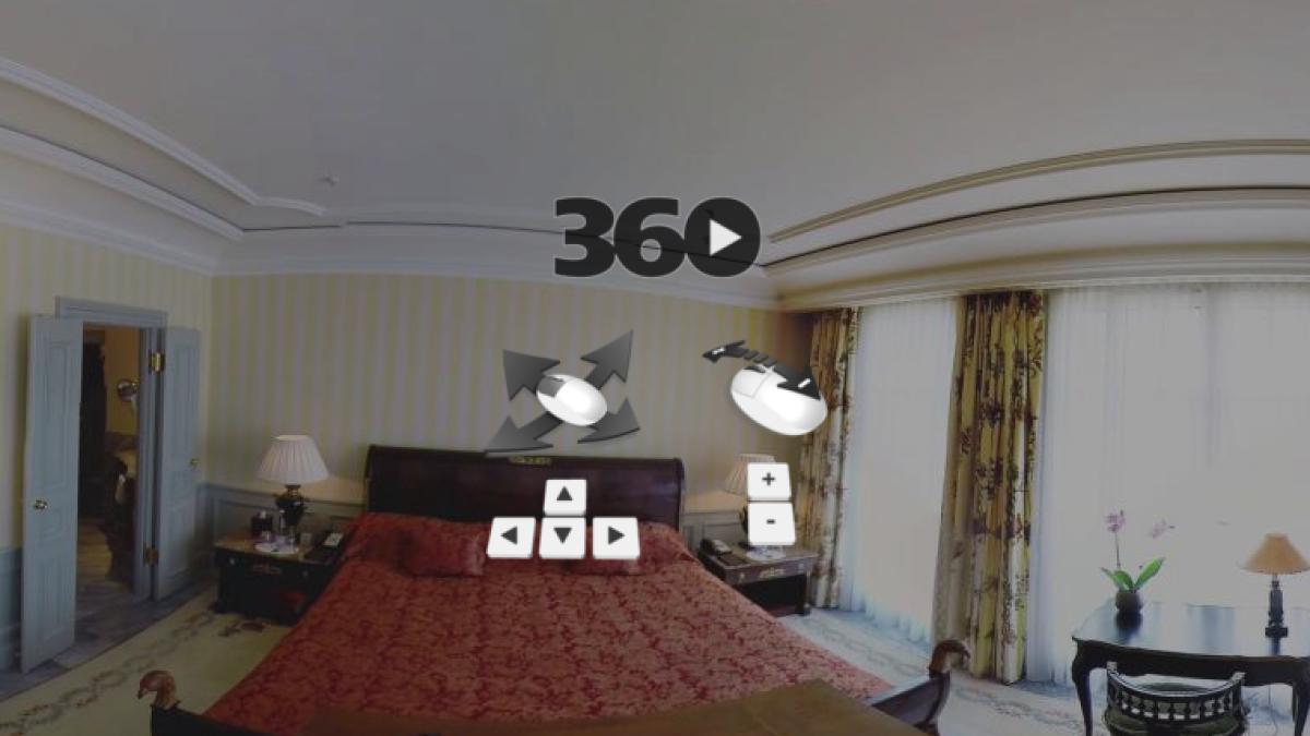360 ° View: How the Queen sleeps in Berlin